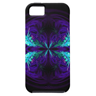 Blue flowered globe abstract iPhone 5 covers