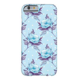 Blue flowers 14 barely there iPhone 6 case