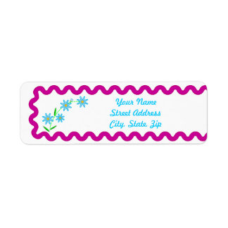 Blue Flowers Background Return Address Sticker Return Address Label