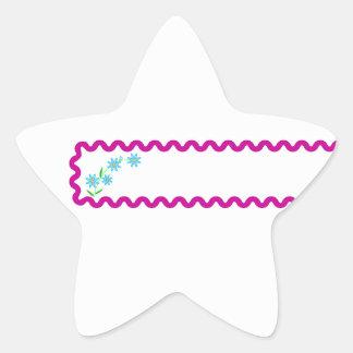Blue Flowers  Background Star Sticker