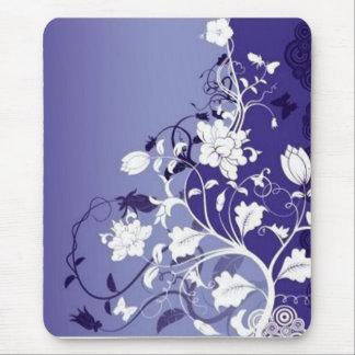 blue-flowers, blue-flowers mouse pad