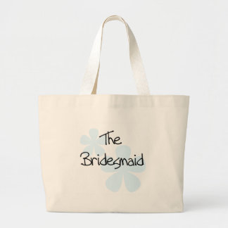 Blue Flowers Bridesmaid Large Tote Bag