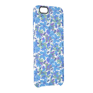 Blue Flowers Clear iPhone 6/6S Case