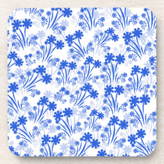Blue Flowers Drink Coaster