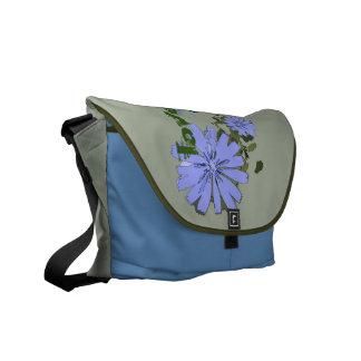 blue flowers farrowed commuter bag