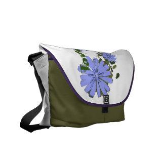 blue flowers farrowed courier bag
