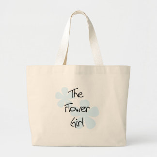 Blue Flowers Flower Girl Large Tote Bag