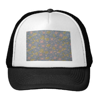 blue flowers mesh hats