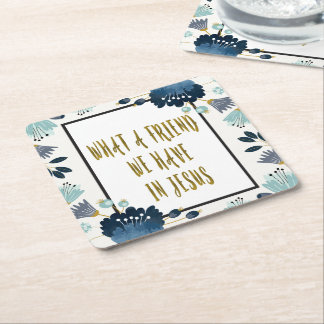 Blue Flowers Hymn Coaster