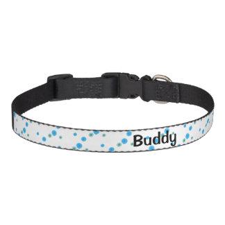 Blue flowers in pet necklace pet collar