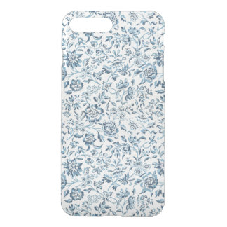 Blue Flowers iPhone7 Plus Clear Case