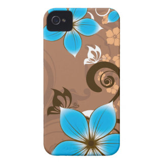 Blue Flowers iPhone 4 Case-Mate Case
