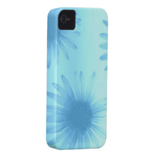 Blue Flowers iPhone 4 Covers