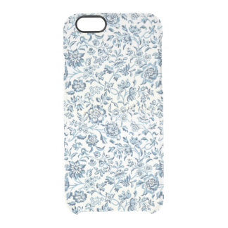 Blue Flowers iPhone 6/6S Clear Case