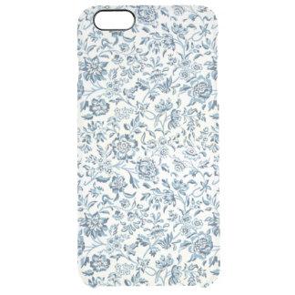 Blue Flowers iPhone 6/6S Plus Clear Case