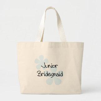 Blue Flowers Jr. Bridesmaid Jumbo Tote Bag