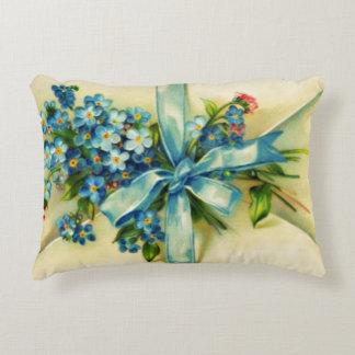 Blue Flowers Letter Decorative Cushion