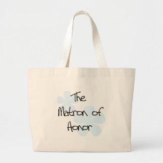 Blue Flowers Matron of Honor Jumbo Tote Bag