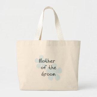 Blue Flowers Mother of Groom Jumbo Tote Bag