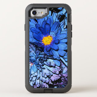Blue Flowers OtterBox OtterBox Defender iPhone 8/7 Case