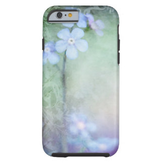 Blue Flowers Painting iPhone case design