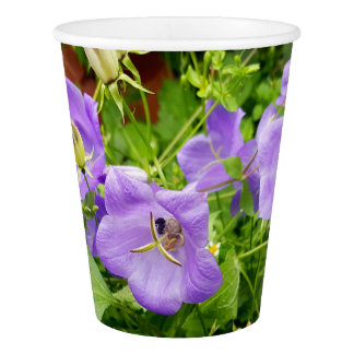 Blue flowers paper cup