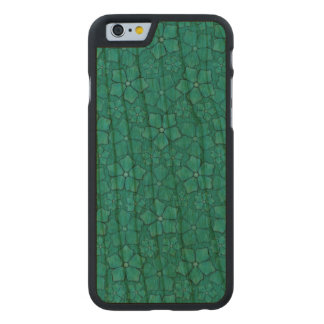 Blue Flowers pattern Carved® Cherry iPhone 6 Slim Case