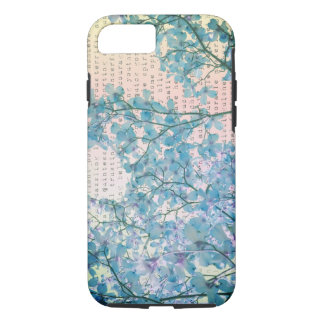 Blue Flowers Photography with Inspiring Words iPhone 8/7 Case