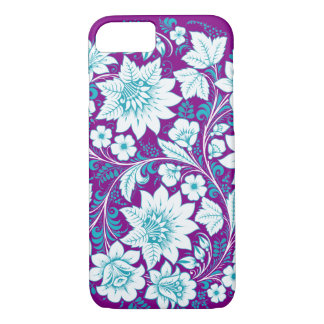 Blue Flowers Sketch Hohloma iPhone 7 Case