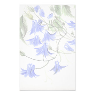 Blue Flowers Stationery