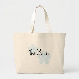 Blue Flowers The Bride Jumbo Tote Bag