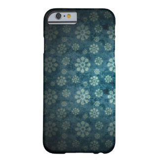 blue flowers vector pattern art barely there iPhone 6 case