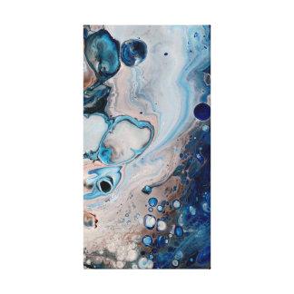 Blue Fluid Acrylic Abstract On Canvas