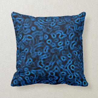 Blue Fluid Dream Throw Pillow