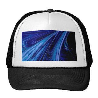blue fluid hat