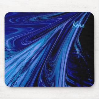 blue fluid mouse pad