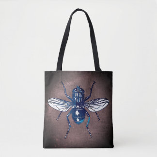 Blue Flying Insect Tote Bag