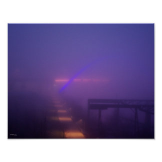 Blue Fog in Nashville Poster
