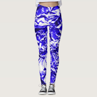 Blue Foil #1 Leggings