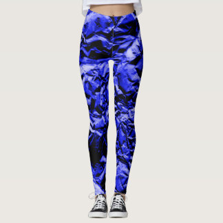 Blue Foil #2 Leggings