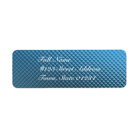 Blue Foil Mailing Labels