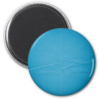 BLUE FOLDED PAPER BACKGROUND WALLPAPER CUSTOMIZABL 6 CM ROUND MAGNET