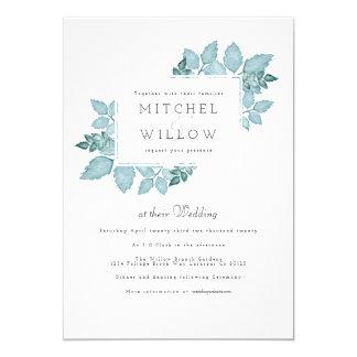 Blue Foliage Watercolor | Wedding Invite