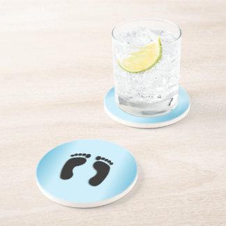 Blue Foot Prints Coaster