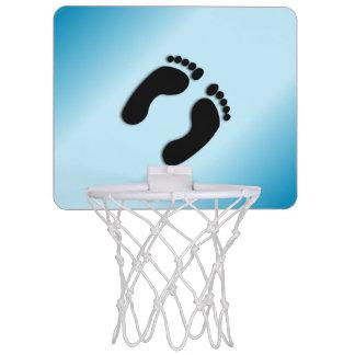 Blue Foot Prints Mini Basketball Hoop