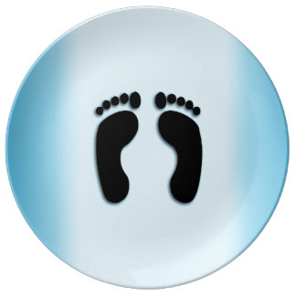 Blue Foot Prints Plate