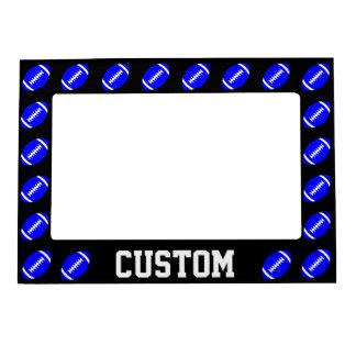 Blue Football Custom Magnetic Picture Frame