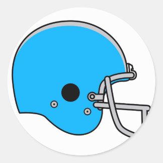 blue football helmet round sticker