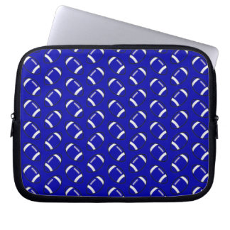 Blue Football Laptop Sleeve 10 inch