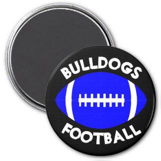 Blue Football Team Name & Custom Color Coach's Magnet